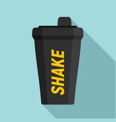 Shake bottle icon flat style vector