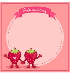 Strawberry Icon Character Notes vector image