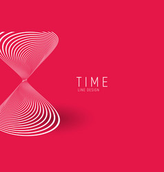 stylized sand watch red minimalistic artistic vector image