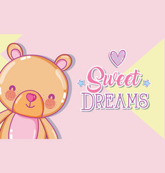 Sweet dreams message vector