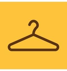 The hanger icon Coat rack symbol Flat vector
