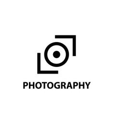 the logo design for the photostudio vector image