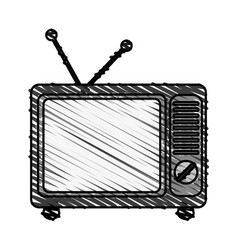 Tv retro icon image vector