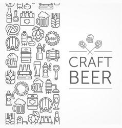 vintage banner for craft vector image