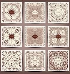 vintage decorative elements vector image