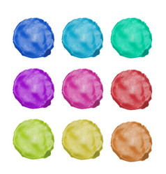 watercolor painted circle vector image