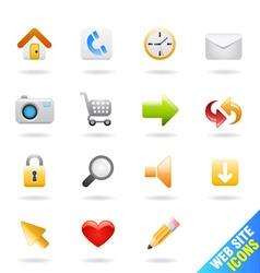 web site icon vector image
