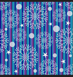winter seamless christmas striped knitted pattern vector image