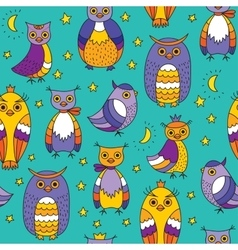 Background with owls vector image