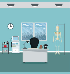 doctor professional office hospital room vector image