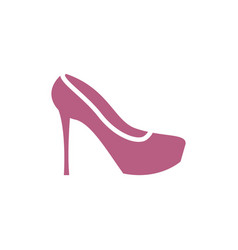 female shoe icon woman footwear sign boot symbol vector image