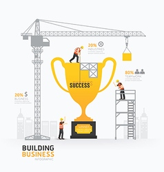 Infographic business trophies shape template desig vector image