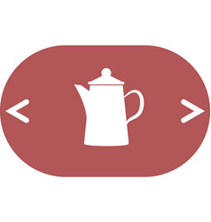 teapot kettle on isolated vector image vector image