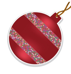 christmas ball with beads on white background vector image