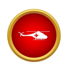 Medical helicopter icon simple style vector image