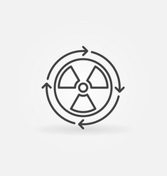 nuclear power concept icon vector image