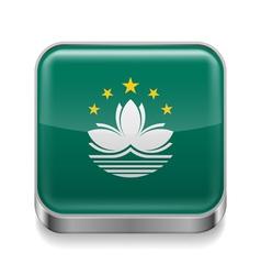Metal icon of Macau vector image