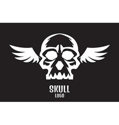 skull logo wings vector image