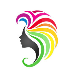 girl with colored hair vector image