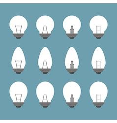 Light bulbs and Bulb icon set vector image