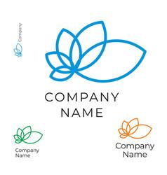 modern contour flower logo identity brand icon vector image vector image
