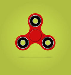 red fidget spinner stress relieving toy 3d vector image