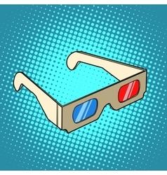 Stereo 3d glasses for cinema vector image