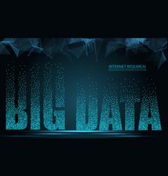 text big data concept design of signal emitting vector image
