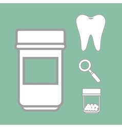 tooth with magnifying glass vector image