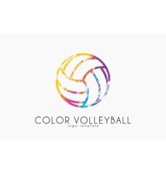 Volleyball logo Volleyball ball logo design vector image vector image