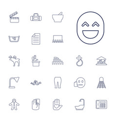 22 art icons vector image
