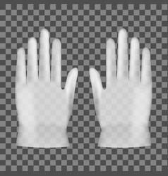 3d disposable transparent plastic or nitrile glove vector