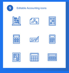 9 accounting icons vector