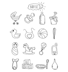 A family-friendly hotel of icons and elements Set vector image