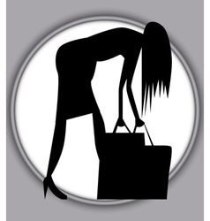 A Hard Days Shopping vector image