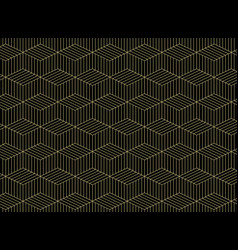 abstract of gold grid line pattern geometric on vector image