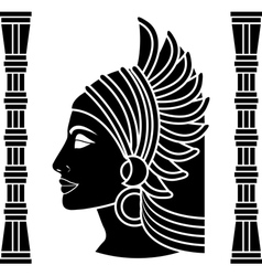 ancient eastern woman vector image