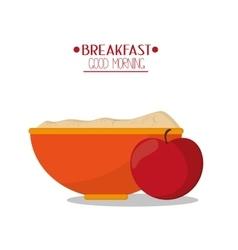 Apple and breakfast design vector