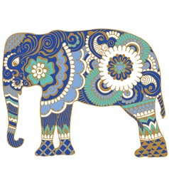 Asian elephant with patterns vector