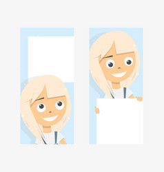 banner on the phone screen templates vector image