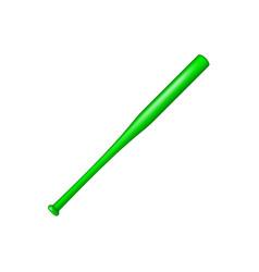 baseball bat in green design vector image