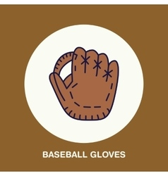 Baseball softball line icon gloves logo vector