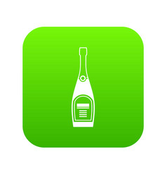 bottle of champagne icon digital green vector image