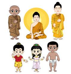 Buddhacartoon vector