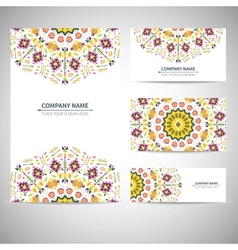 Business card template in vector image