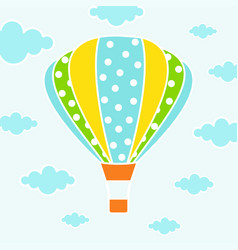 cartoon card with air balloons vector image