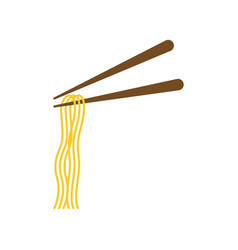 Chopstick noodle icon design template isolated vector
