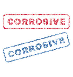 Corrosive textile stamps vector