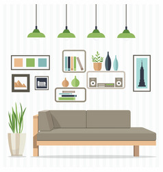Cozy living room vector