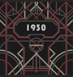 dark artdeco abstract geometric background vector image